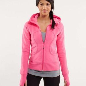 LULULEMON Pink Scuba Full Zip Up Hoodie Sweatshirt